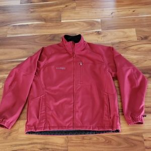 Columbia Mens Red Soft Shell Jacket size L